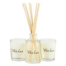 Buy Stoneglow Scented Candles & Diffuser Gift Set, White Linen Online at johnlewis.com