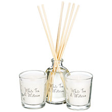 Buy Stoneglow Scented Candles & Diffuser Gift Set, White Tea & Wisteria Online at johnlewis.com