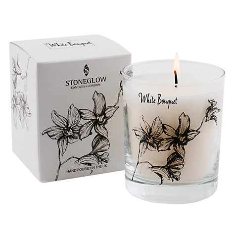 Buy Stoneglow Scented Candle In a Jar, White Bouquet Online at johnlewis.com