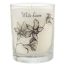 Buy Stoneglow White Linen Scented Candle Online at johnlewis.com