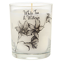 Buy Stoneglow Scented Candle in a Jar, White Tea & Wisteria Online at johnlewis.com