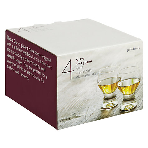 Buy John Lewis Curve Glasses, Set of 4, 60ml Online at johnlewis.com