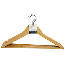 Buy John Lewis Wooden Clothes Hangers, Pack of 5 Online at johnlewis.com