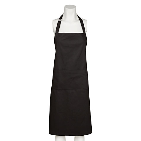 Buy John Lewis The Basics Apron, Black Online at johnlewis.com
