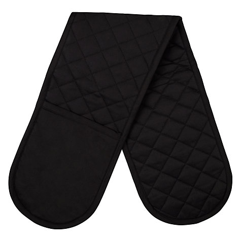 Buy John Lewis Double Oven Glove, Black Online at johnlewis.com
