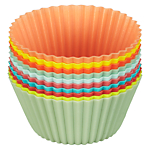 John Lewis Playnation Silicone Cupcake Cases, Set of 12