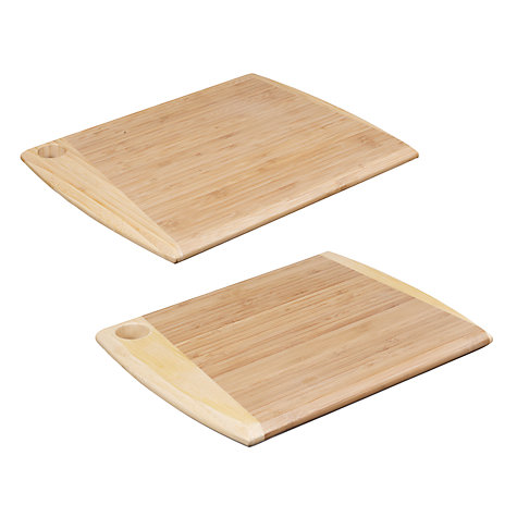 Buy John Lewis Bamboo Chopping Boards, Set of 2 Online at johnlewis.com