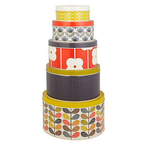 Buy Orla Kiely Multi Stem Cake Tins, Set of 5 Online at johnlewis.com