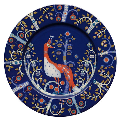 Buy Iittala Blue Taika Plate, Dia.22cm, Red Online at johnlewis.com