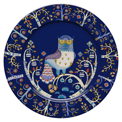 Iittala Blue Taika Plate, Dia.30cm, Blue