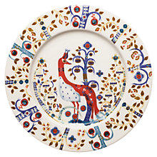 Buy Iittala White Taika Peacock 22cm Plate Online at johnlewis.com