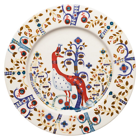 Buy Iittala White Taika Plate, Peacock, Dia.22cm Online at johnlewis.com