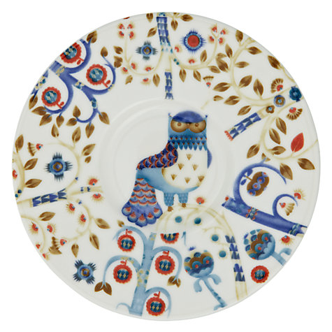 Buy Iittala White Taika Plate, Peacock, Dia.30cm Online at johnlewis.com