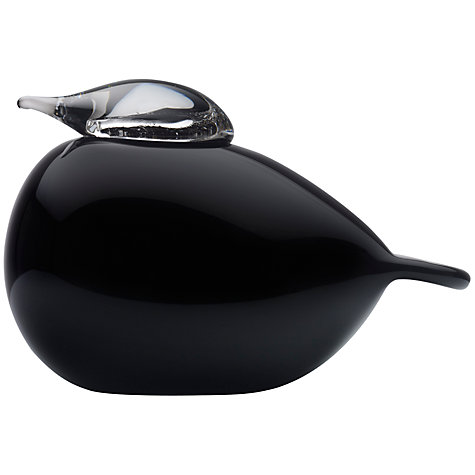 Buy Iittala Toikka Birds Puff Ball, Black Online at johnlewis.com