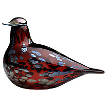 Buy Iittala Toikka Birds Ruby Bird Online at johnlewis.com