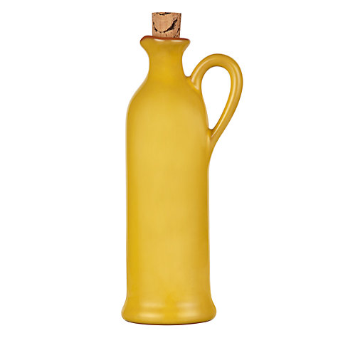 Buy John Lewis Al Fresco Oil Bottle, H25cm, Saffron Online at johnlewis.com