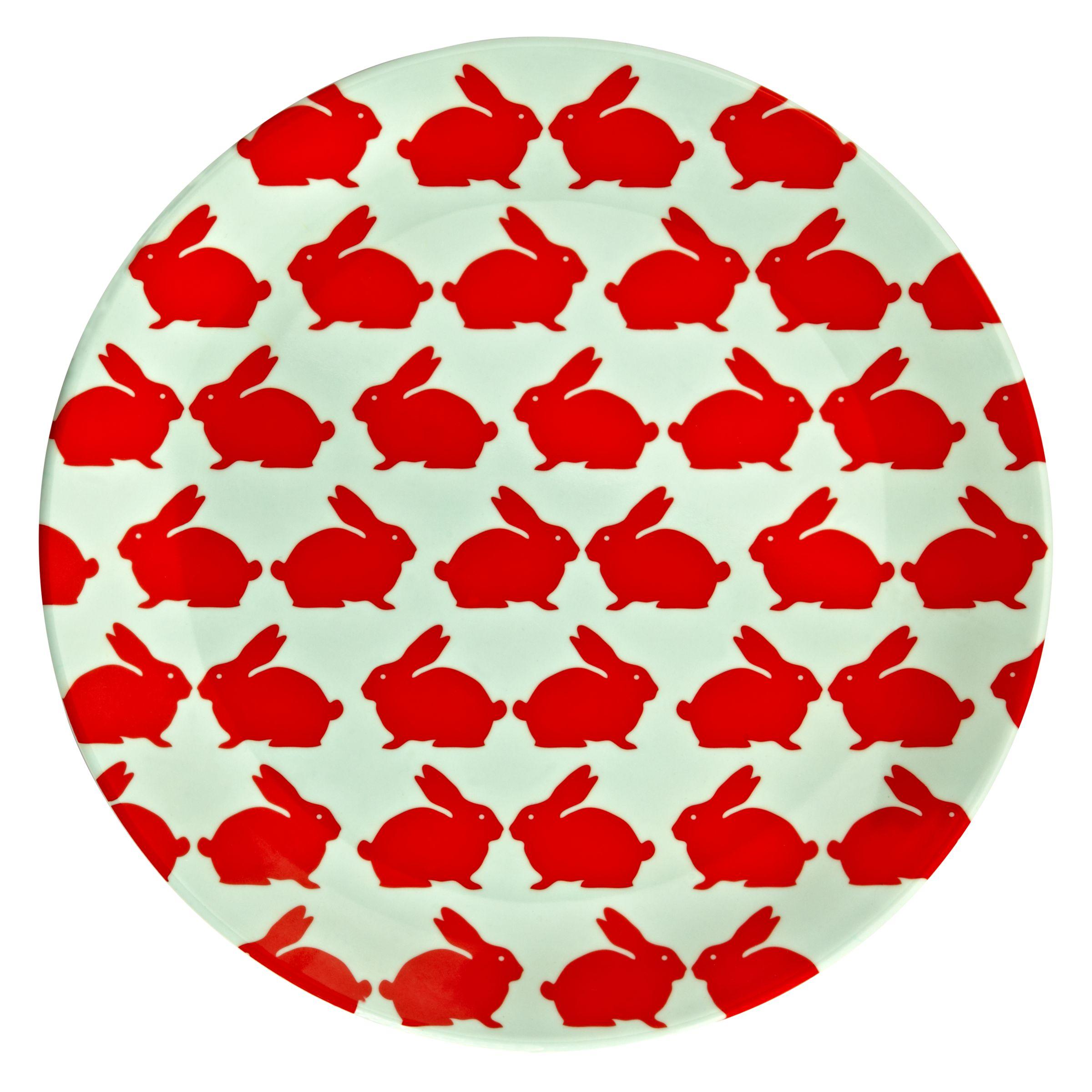 Anorak Kissing Rabbits Dinner Plate