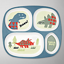 Buy little home at John Lewis Dinosaurs Divided Plate Online at johnlewis.com
