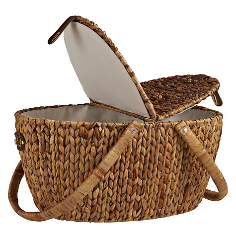 Buy John Lewis Water Hyacinth Picnic Hamper Online at johnlewis.com