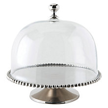 Buy Culinary Concepts Beaded Cake Stand with Glass Dome, Dia.30cm Online at johnlewis.com