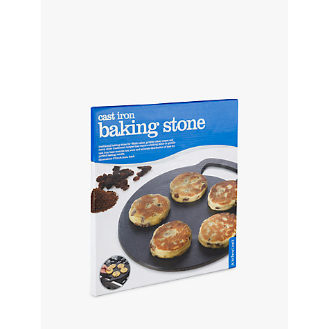Buy Kitchen Craft Cast Iron Baking Stone, Dia.27cm Online at johnlewis.com