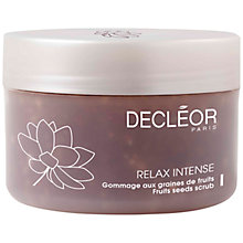 Buy Decléor Relax Intense Fruit Seeds Scrub, 200ml Online at johnlewis.com