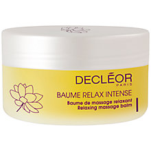 Buy Decléor Relaxing Massage Balm, 125ml Online at johnlewis.com
