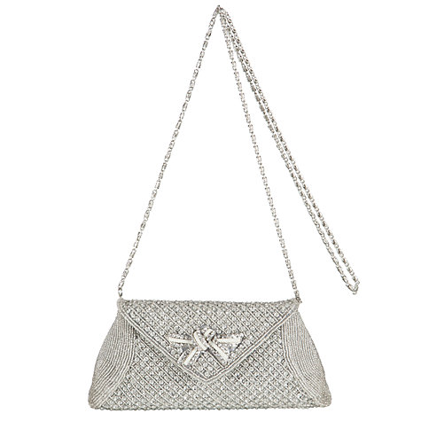 Buy John Lewis Beau Beau Sequin Envelope Clutch, Silver Online at johnlewis.com