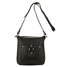 Buy John Lewis Buckle Across Body Handbag, Black Online at johnlewis.com