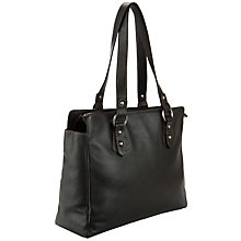 Buy John Lewis Shopper Leather Handbag, Black Online at johnlewis.com