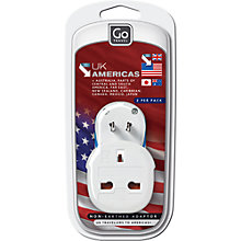 Buy Design Go UK to Americas Twin Adaptor Online at johnlewis.com