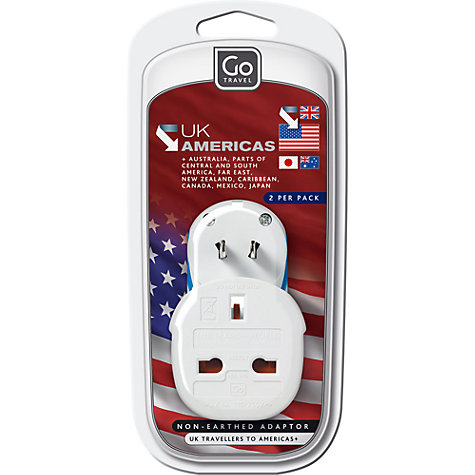 Buy Go Travel UK to Americas Twin Adaptor Online at johnlewis.com