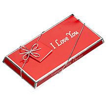 Buy Ambassadors of London I Love You Milk Chocolate Bar, 100g Online at johnlewis.com
