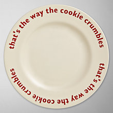 Buy Big Tomato Company Cookie Crumbles Plate Online at johnlewis.com