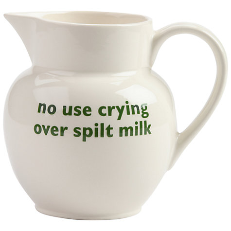 Buy Big Tomato Company English Eccentrics No Use Crying over Spilt Milk Jug Online at johnlewis.com