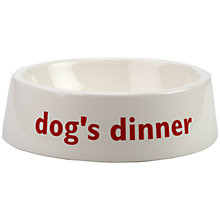 Buy Big Tomato Company English Eccentrics Dog's Dinner Pet Bowl Online at johnlewis.com