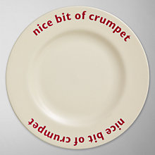 Buy Big Tomato Company Nice Bit of Crumpet Plate Online at johnlewis.com