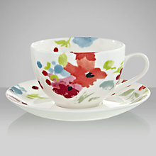 Buy John Lewis Bloom Teacup and Saucer,0.3L, White Online at johnlewis.com