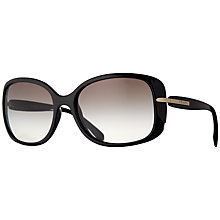 Buy Prada PRO8OS Oval Frame Sunglasses, Black Online at johnlewis.com