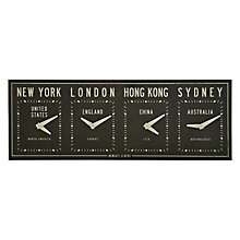 Buy Newgate Fleet ST Time Zone Clock, 30 x 80cm Online at johnlewis.com