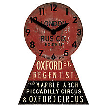 Buy Newgate Oxford Street Bus Wall Clock Online at johnlewis.com