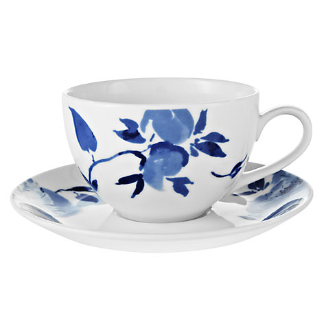 Buy John Lewis Blue Rose Cup and Saucer Online at johnlewis.com