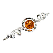 Buy Goldmajor Amber Silver and White Cubic Zirconia Brooch Online at johnlewis.com
