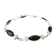Buy Goldmajor Silver Jet Flower Marquise Bracelet Online at johnlewis.com