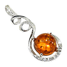 Buy Goldmajor Amber Silver and White Cubic Zirconia Pendant Online at johnlewis.com