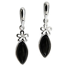 Buy Goldmajor Jet Silver Flower Drop Earrings Online at johnlewis.com