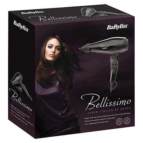 Buy BaByliss 5534U Bellissimo Hair Dryer Online at johnlewis.com