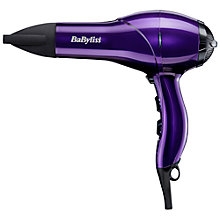 Buy BaByliss AC2100 Salon Light Hair Dryer, Purple Online at johnlewis.com