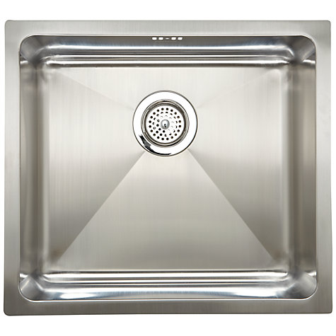 Buy John Lewis Stainless Steel Inset / Undermounted Single Bowl Online at johnlewis.com