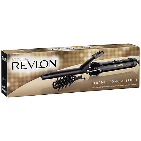 Buy Revlon 2259HU Ceramic Curling Tong and Brush Set Online at johnlewis.com